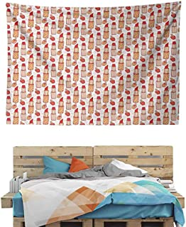 HuaWuChou Lipstick Nail Polish Tapestry Wall Covering, Wall Tapestry with Art Nature Home Decorations for Living Room Decor, 80W x 59L Inches