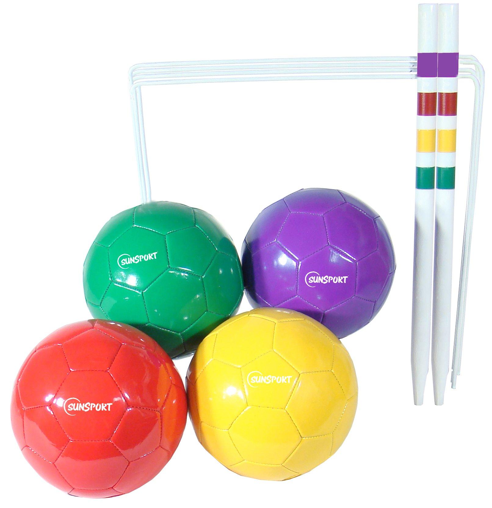 Bex deportes fútbol Croquet Set w/4 bolas 2 objetivo Sticks 10 críquet bolsa de almacenamiento: Amazon.es: Deportes y aire libre
