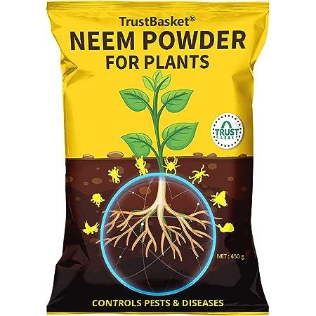 TrustBasket Neem Cake Powder Organic Fertilizer and Pest Repellent for Plants (450 GMS)