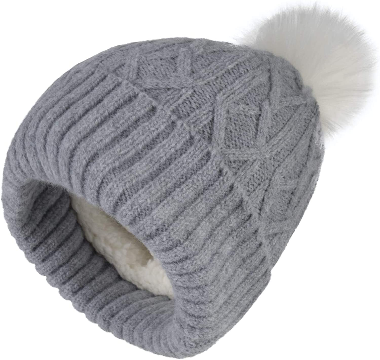 Home Prefer Beanie Baby Hats Winter Hat Baby Sherpa Knit Hat Toddler Beanie Hat