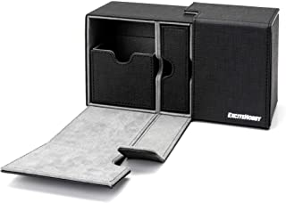 EXCITE HOBBY トレカ デッキケース トレーディング スリーブに入れたまま保存 カードケース 汎用的なトレーディングカードサイズに対応(スタンダート/スモール) 約200枚収納 ダイス収納 マグネット開閉機能付き
