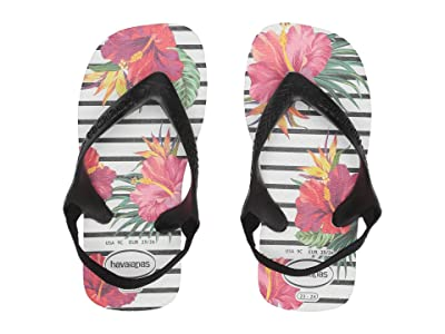 Havaianas Kids Baby Chic Flip-Flop (Toddler) (White) Girls Shoes