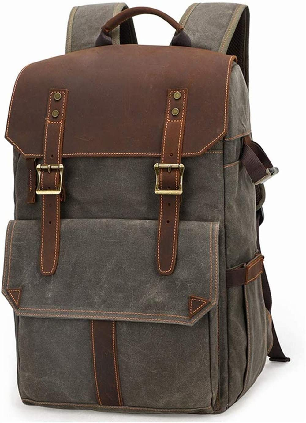 LHY Camera Backpack Waterproof Camera Backpack Professional Backpack Large Capacity Travel Vintage SLR Camera Lens Bag