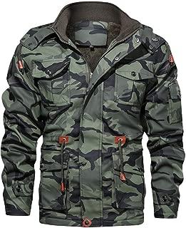 Men's Camouflage Coat Drawstring Military Cotton Zip Up Hoodie Anoraket