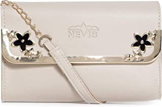 Nevis PU Synthetic Stylish Sling Crossbody/Party Shoulder Sling Bag/Chain Sling Bag For Girl And Women