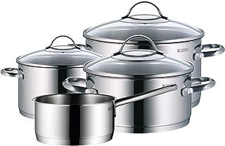 WMF Provence Plus - Batería de Cocina, Acero Inoxidable Cromargan, Tapas de Cristal, Apta para Todo Tipo de Cocinas, 5 Piezas