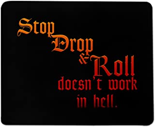 Stop Drop and Roll Mouse Pad