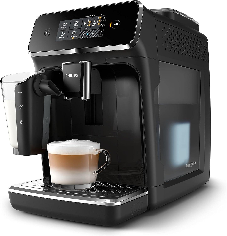 Philips Serie 2200 Lattego ep2231/40 - Cafetera superautomática, 3 bebidas de café, jarra de leche lattego muy facil de limpiar, molinillo cerámico, pantalla táctil