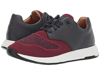 BOSS Hugo Boss Titanium Run Sneakers by BOSS (Dark Red) Men