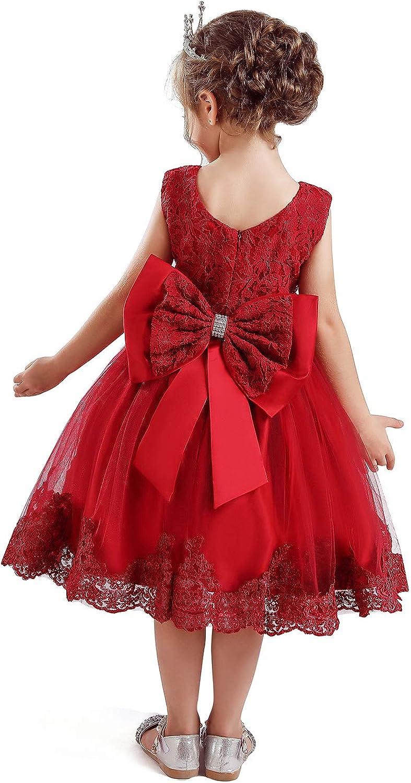 NNJXD Ni/ñito Beb/é Tul Flor Princesa Boda Vestir Chicas Cumplea/ños Vestidos