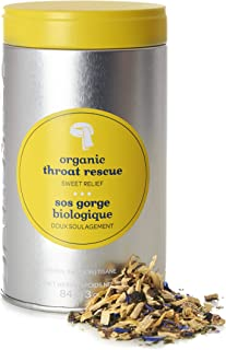 DAVIDsTEA Organic Throat Rescue Loose Leaf Tea Perfect Tin, Premium Soothing Herbal Tea with Licorice Root and Mint for Sore Throat, 84 grams / 3 ounces