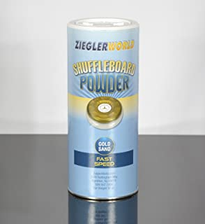 Zieglerworld 1 can Gold Sand Table Shuffleboard Powder Wax - Fast Speed