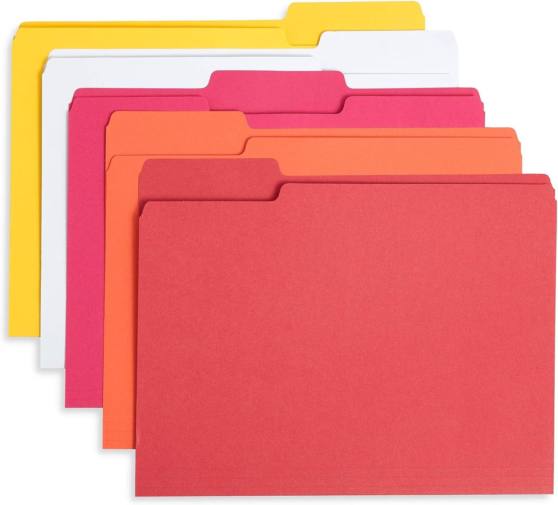 Blue Summit Supplies Warm Tones File Folders Tab Lette Cut 3 Max 53% OFF 1 Ranking TOP20