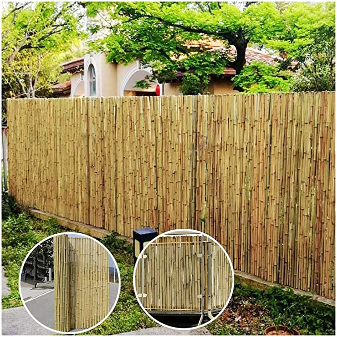 Green Froadp 90x300cm PVC Sun Shade Privacy Slat Imitation Bamboo Fence Screen and Wind Shield Divider Screening for Outdoor Garden Balcony Terrace