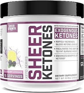 High Potency BHB Salts ~ Exogenous Ketones Formulated to Burn Fat, Boost Energy & Jumpstart Ketosis Fast | BlackBerry Lemonade Beta Hydroxybutyrates | Sheer Strength Labs, 8.18 oz (232g)