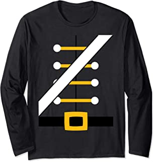 Wooden Toy Soldier Uniform Holiday Long Sleeve T-shirt