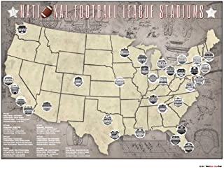 nfl location map