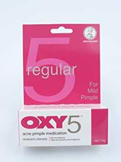 OXY 5 Regular Acne Pimple Cream Medication 5% Benzoyl Peroxide Mild Pimple 10g