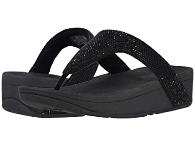 FitFlop Lottie Shimmer Crystal (Black/Black) Women