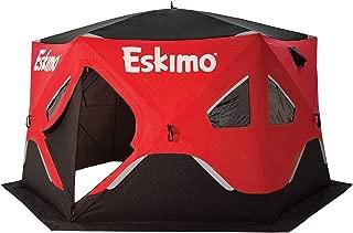 Eskimo FatFish 6120i Insulated 5-7 Person Pop Up Ice Fishing Shanty Shelter Hut