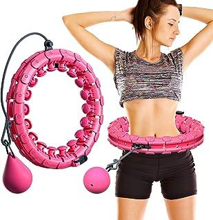 MOSRACY Hula Hoop Fitness Masaje de neumáticos Hula Hoop no Deja Caer artefacto de pérdida de Peso de Yoga Hula Hoop Equipo Deportivo Adecuado para Adultos y niños (Rosa + Bola de inercia)