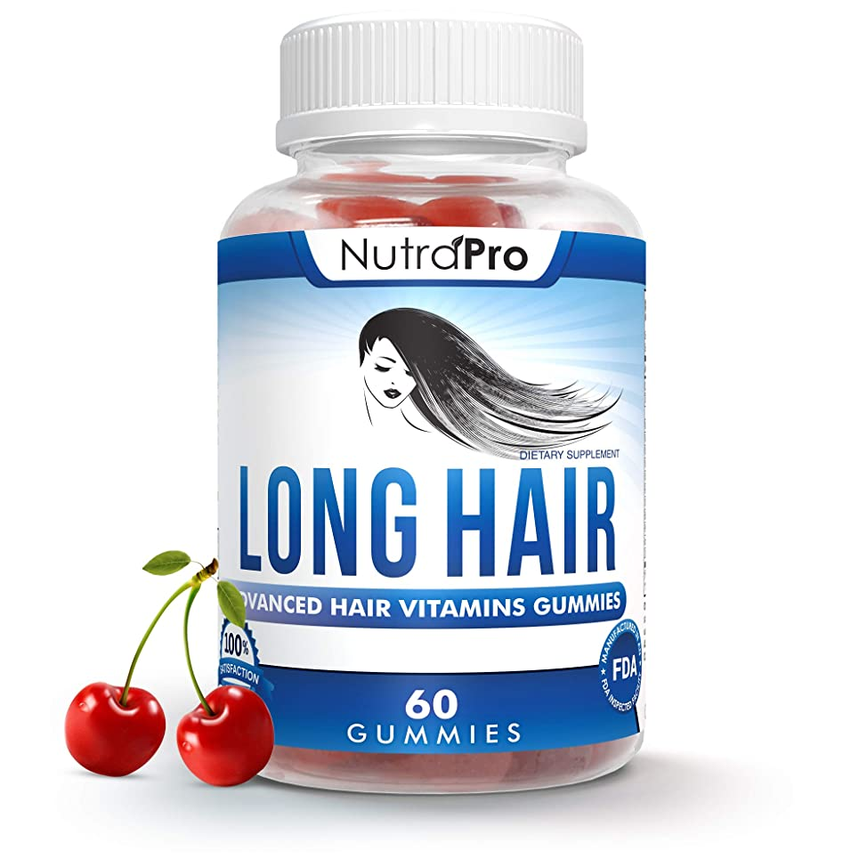 Long Hair Gummies – Anti-Hair Loss Supplement for Fast Hair Growth of Weak, Thinning Hair – Grow Long Thick Hair & Increase Hair Volume with Biotin And 10 Other Vitamins