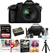 Panasonic LUMIX DMC-FZ1000 16X Long Zoom Digital Camera (Black) with 32GB Deluxe Accessory Bundle