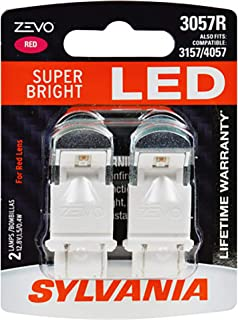 SYLVANIA - 3057 ZEVO LED Red Bulb - Bright LED Bulb, Ideal for Stop and Tail Lights (Contains 2 Bulbs)