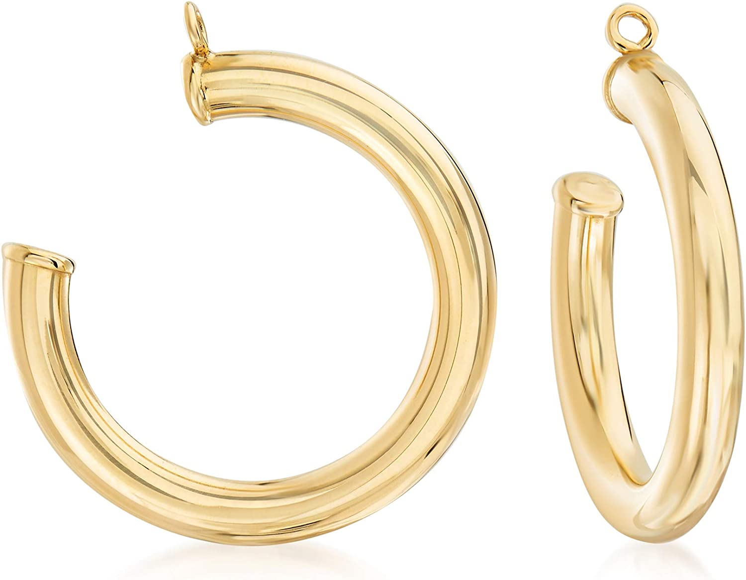 Ross-Simons 14kt Yellow Gold Hoop Earring Jackets. 7/8 inches