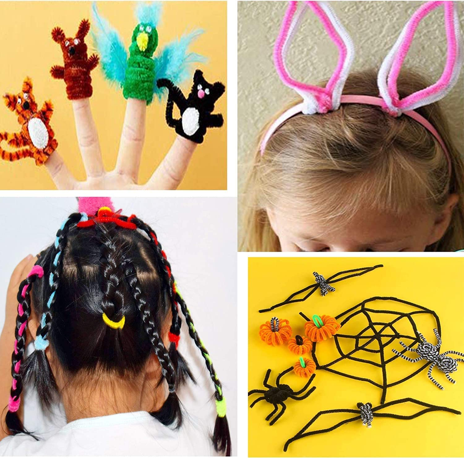10 Colors 500Pcs Craft Pipe Cleaners Chenille Stems,Pipe Cleaners ...
