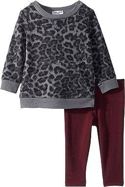 Leopard Print Hoodie Set (Infant)