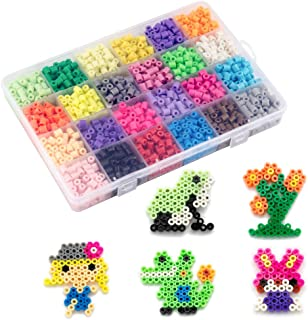 Non-Ironing Fuse Beads Kit, Water Fuse Beads Kit 24 Colors 2100 Beads, Refill kit Compatible Beados Magic Water Sticky Beads Art Crafts Toys for Kids (2100+ Beads Complete Set)