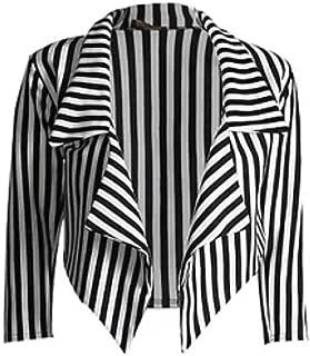 Ladies Mens Black White Stripe Jumper Cropped Blazer Legging Bralet Beetle Monochrome Juice Halloween US Size 4-22