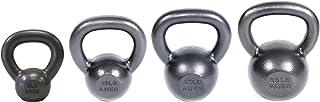 Ader Premier Kettlebell Set- (5, 15, 25, 35 Lb) 4 Pcs w/DVD & Gym Chalk Ball