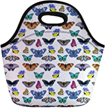 Trendy generous super cute Cute Cartoon Animal Printed Neoprene Lunch Tote Pouch Top-handly Bag,Colour:Butterfly-2 (Color ...