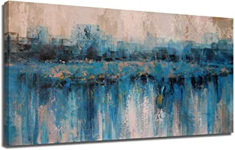 Arjun Canvas Wall Art Abstract Painting Prints Large Size Panoramic for Living Room Bedroom Home Office Mural Decor Medium...