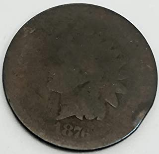 1876 P Indian Head Penny Cent AG