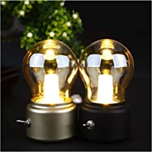 WEIJIAMY Nachtlampje Nieuwjaar Led lamp Klassieke blazen bureaulamp decoratie licht Retro USB Oplaadbare Nachtlampje Burea...