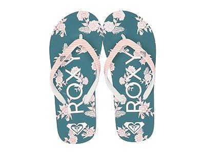 Roxy Kids Pebbles VI (Little Kid/Big Kid) (Grey/Blue) Girls Shoes