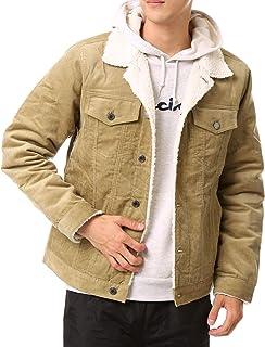 [エムシー] 裏ボア メンズ デニム ジャケット Gジャン 中綿入り ブルゾン コート
