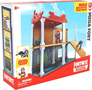 Fortnite Battle Royale Collection Mega Fort Display Set & 2 Exclusive Figures: Blue Squire & Tricera Ops