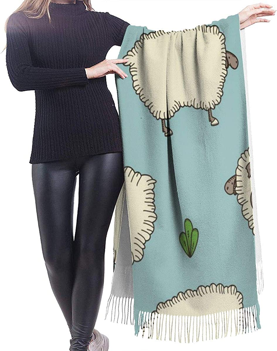 Sheep And Ram Cashmere Shawl Wrap Scarf Large Warm Scarf For Women