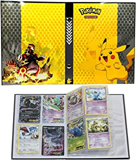 Trading Cards Album Book Best Protection Cards Binder Cards Holder Album for Pokemon - GX EX Box (Pikachu Cover)