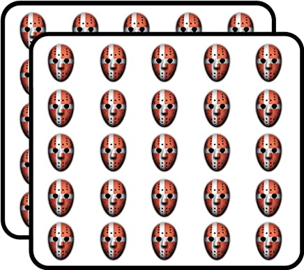 Denmark Flag Ice Hockey Goalie Mask Art Decor Sticker for Scrapbooking, Calendars, Arts, Kids DIY Crafts, Album, Bullet Journals 50 Pack