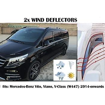 Type de chenal 2014 2015 2016 2017 2018 2019 2020 en Verre Acrylique PMMA Mrp Lot de 2 d/éflecteurs dair Mercedes W447 d/éflecteurs de fen/être Compatible avec Mercedes Benz Vito V Class W447