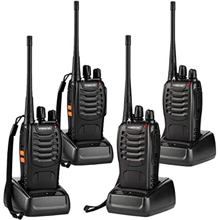 2 Pack Walkie Talkies for Adults Kids Two-Way Radios Rechargeable Handheld Talkies with Earpiece 16-Channel UHF 400-470MHz for Family Home Cruise Ship Camping Hiking