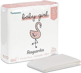 SUMEDTEC - 30 wegwerp-aankleedkussens voor baby's en peuters (meisjes).