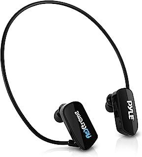 Pyle MP3 Player Bluetooth Headphone - Waterproof Swim IPX8 Flexible Wrap-Around Style Headphones Built-in Rechargeable Bat...