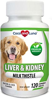 Milk Thistle for Dogs, Liver Support for Dogs, Detox, Hepatic Support, Promotes Liver and Kidney Healthy Function for Pets...