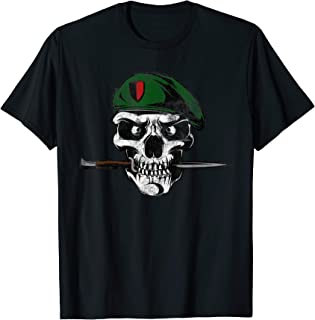 Soldier Skull With Knife Military T-Shirt